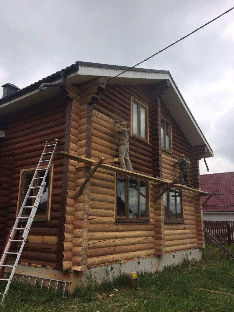 Шлифовка дома